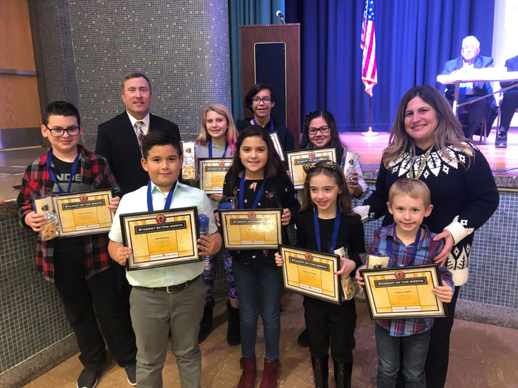Island Park's November Students of the Month were honored at the Dec. Board of Education Meeting.
