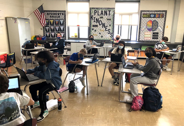 Students in Ms. Augello's health class picked a restaurant they frequent to investigate the calorie/fat  content of their favorite meals.