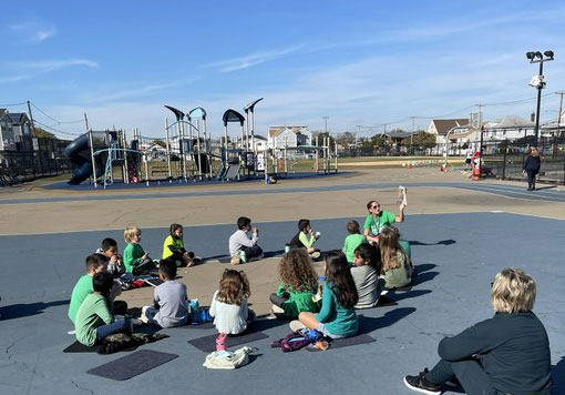 It was a perfect day for a read aloud and snack outdoors
