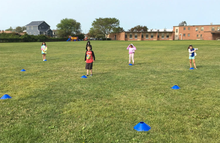 Our students staying healthy during physical education class.