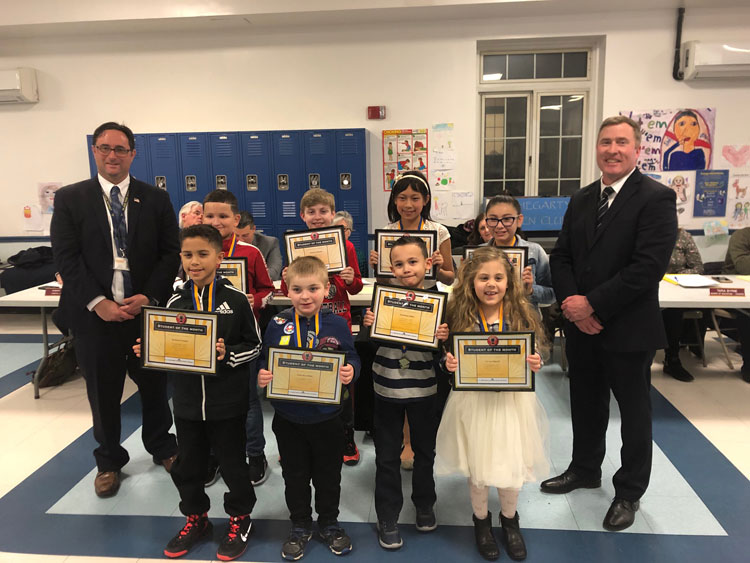 Island Park's Students of the Month were honored at the Feb. 25 Board of Education Meeting.