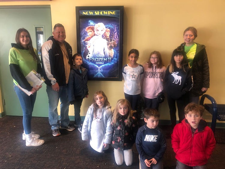 The Island Park Recreation Department enjoyed a trip to Long Beach Cinemas on Saturday, November 23.