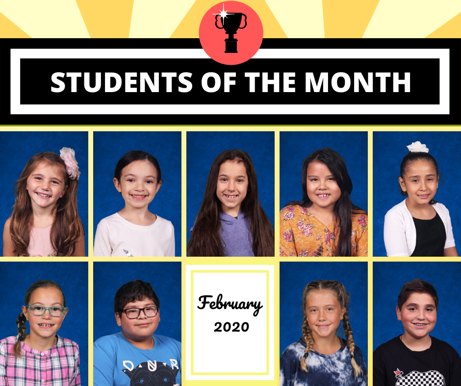 Students of the Month Shine