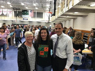 College Fair and Career Day at WCCC,  Hattie with her mom Mary and Mr. Dawson