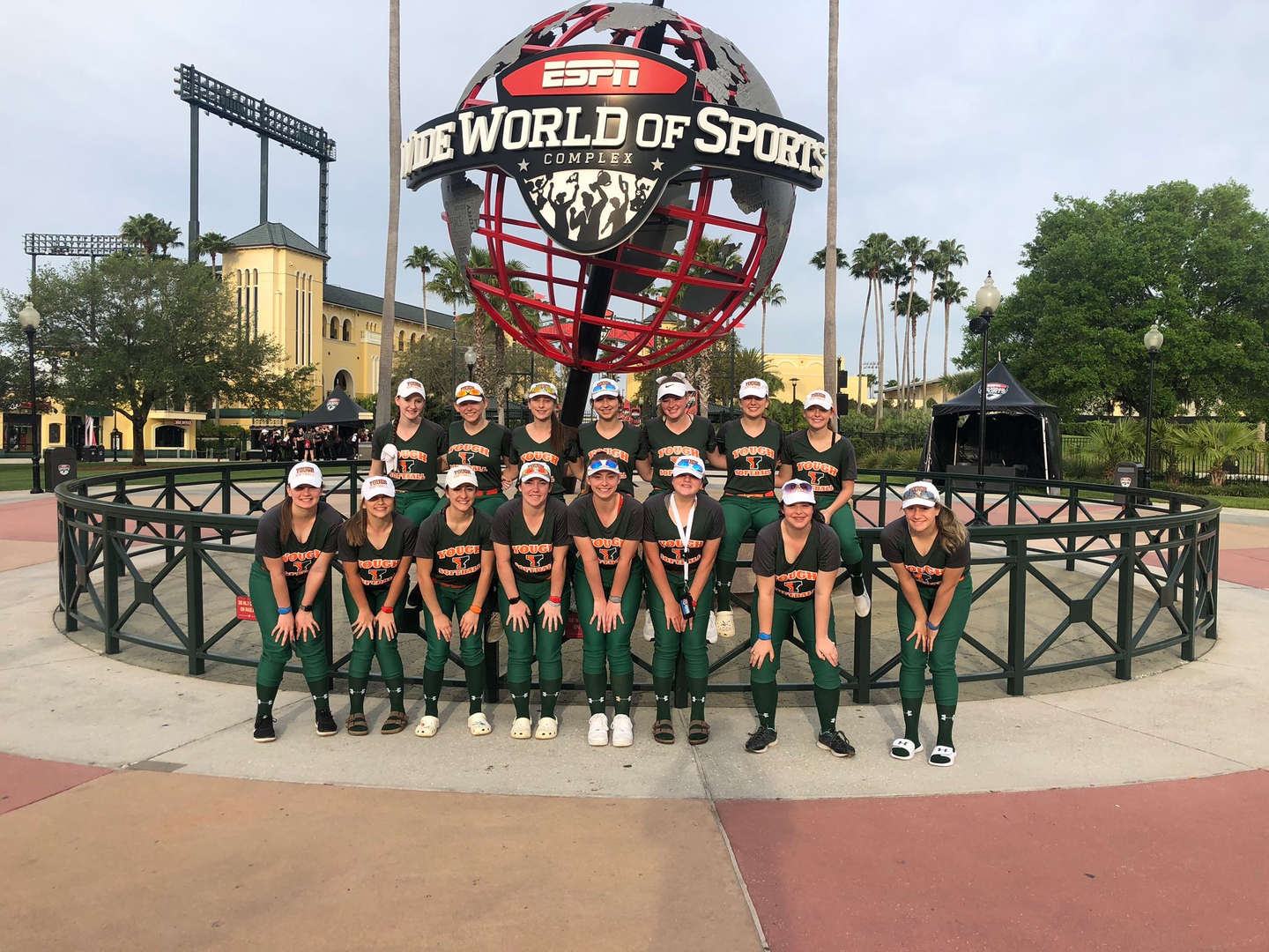 Girls Softball Team in Florida