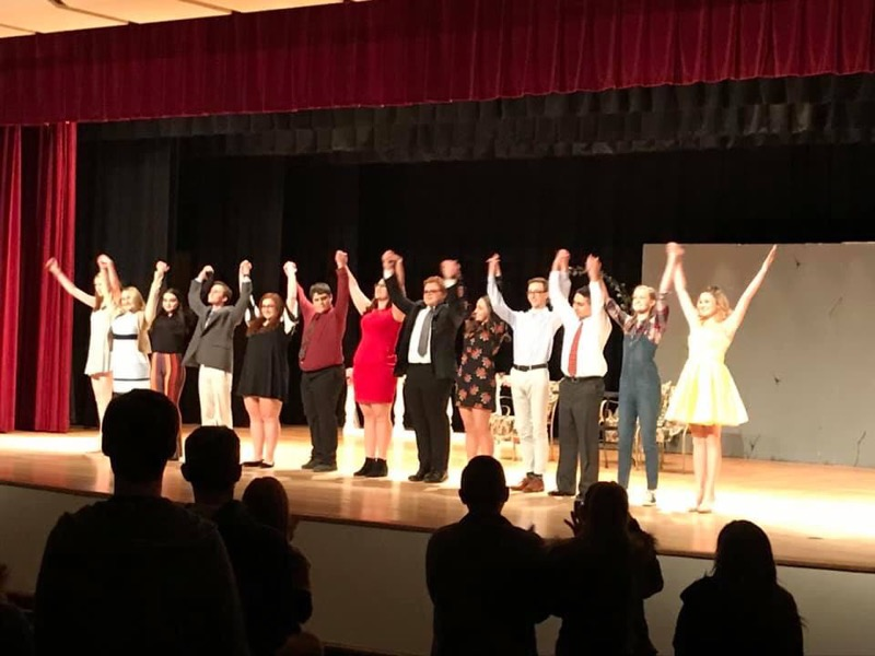"YHS Fall Play ""Curtain Going Up""  Cast"