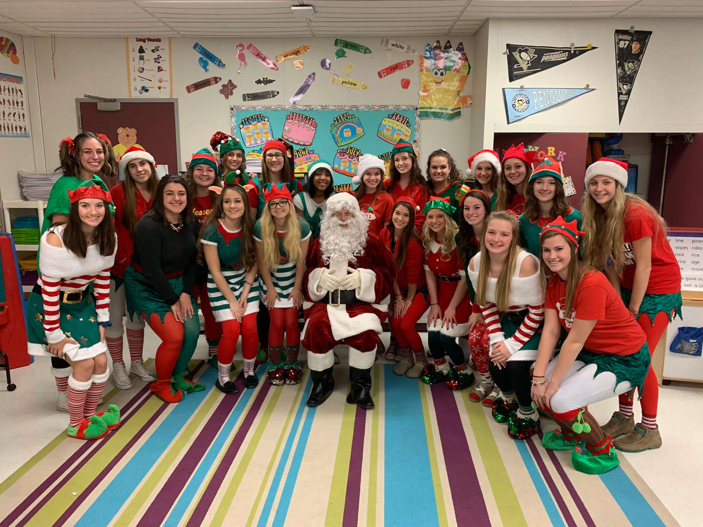Student Council students - Santa and his Elves