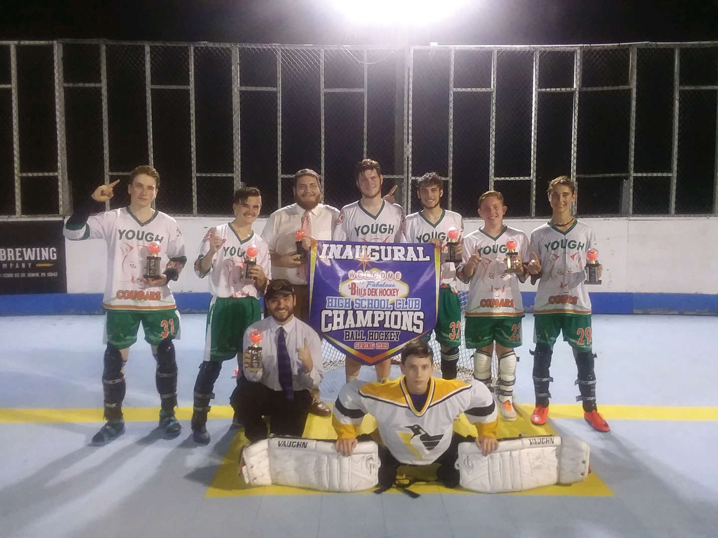 Congrats to our Yough Students who played in a Dek Hockey League. They are the High School Club Champions - Spring 2019.