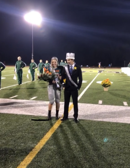 Homecoming King and Queen Hadley Sleith and Trystan Snyder