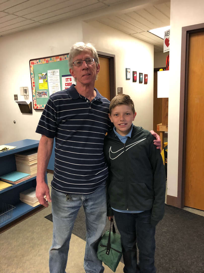 Bring your child to work day!!!! Mr. King and grandson