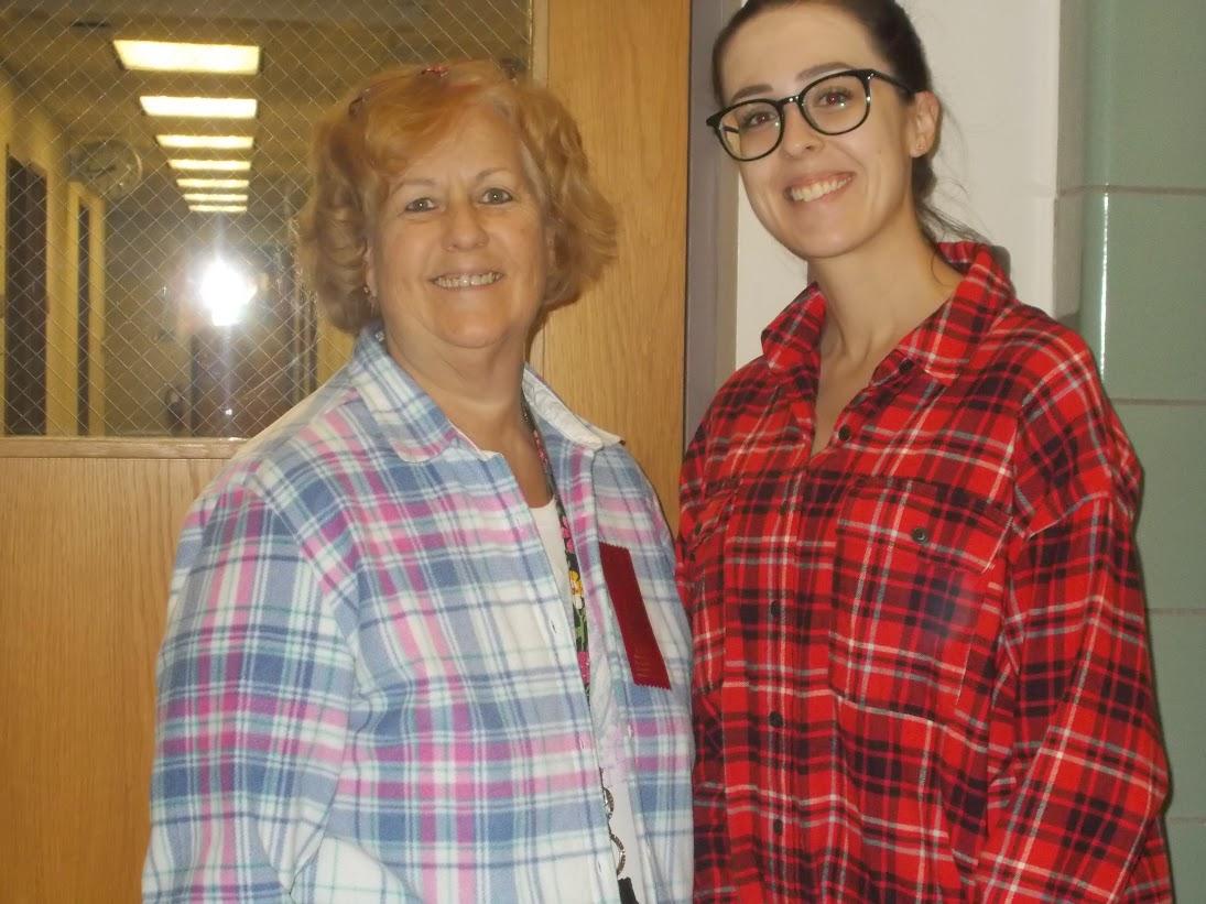 Red Ribbon Week  Flannel Day Mrs. Tietze and Mrs. Brawdy