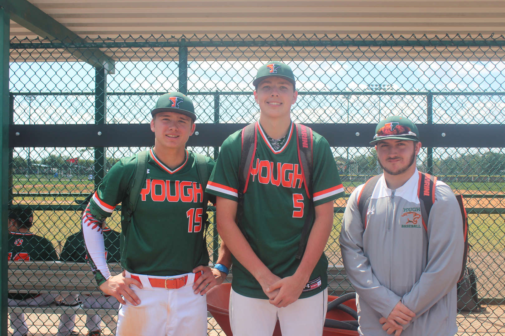 Baseball Seniors  Noah, Jarett and Dominic