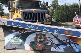 Art Teacher Therese Berkey and her talented art students have participated in the Penn Dot Paint the Plow Contest.