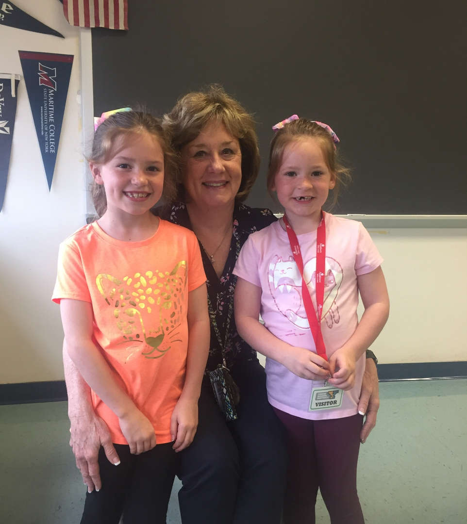 Mrs. Carpenter and her granddaughters!!! Bring your child to work day!!!