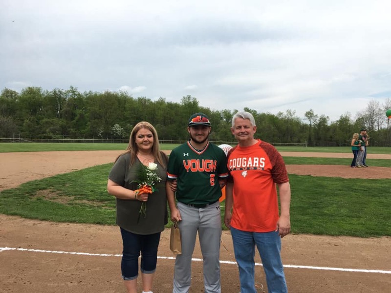Baseball - Senior Night Dom and parents