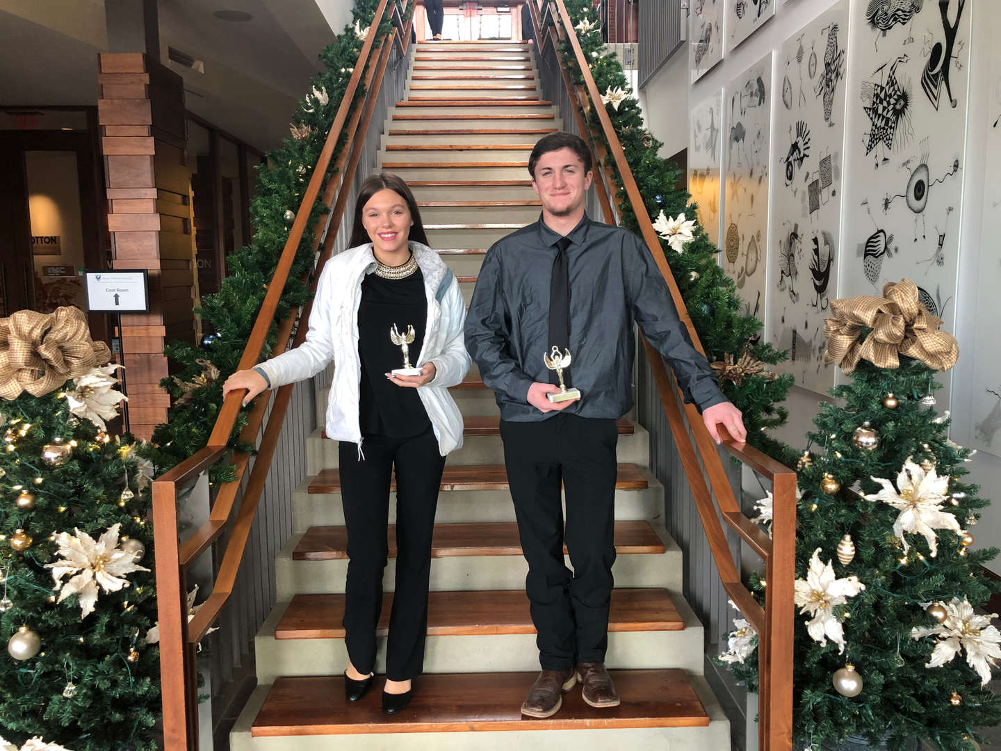 **Congratulations to FBLA Members who placed at the FBLA Regional Competition  Kohl - 3rd place Agribusiness  Gracie - 3rd place Management Decision Making