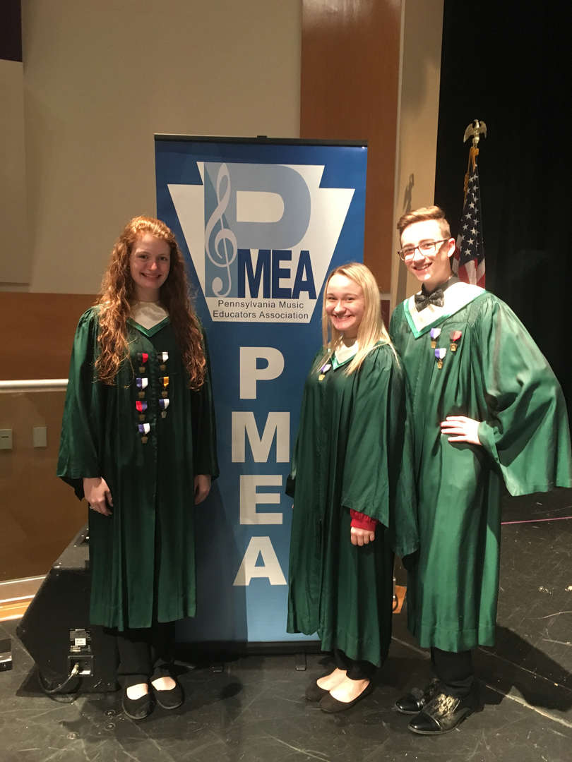 Mollie, Allison and Nolan  performed at the PMEA Honor's Choir Festival at Baldwin High School.