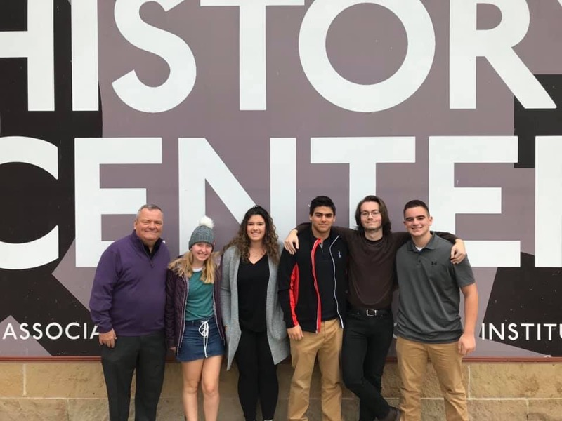 Students from the Athletic Fall Leadership Team attended the annual WPIAL Sportsmanship Summit @Heinz History Center on November 14th, 2019.  Shown with Athletic Director Mr. Evans are Mary, Hattie, Reno, Clint and Kameron