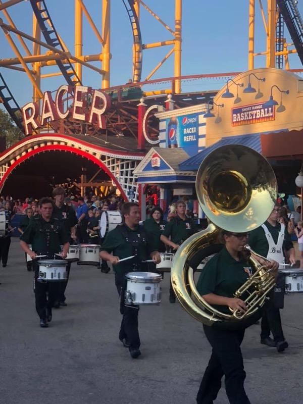 Yough Band at Kennywood August 10th, 2019 Fall Fantasy parade