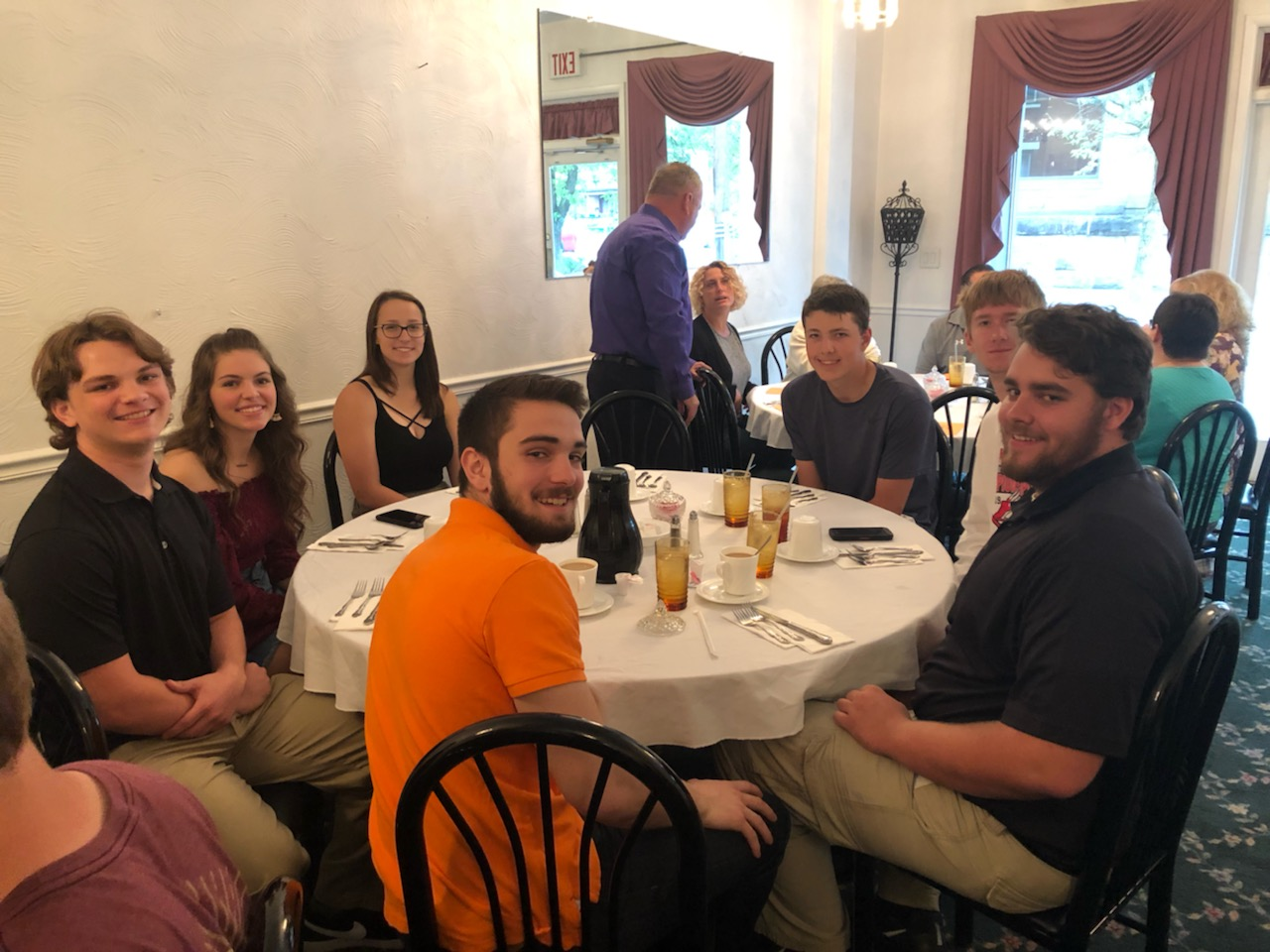 Scholar Athletes/Tri Athletes at their Awards Ceremony/Luncheon at Gary's Chuckwagon in West Newton on Friday, May 17th, 2019.