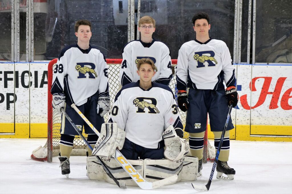 Yough Students who play on the Ringgold Hockey Team include jeremy Bednar, Evan Cook, Gaige Gazelle and Jonathan Dumond.