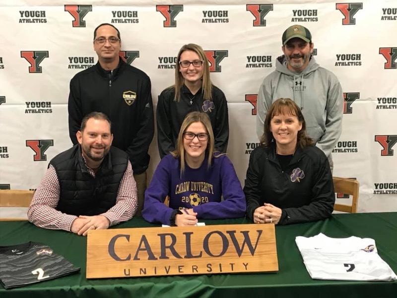 Congratulations to Amber Biros as she will be continuing her education and soccer career at Carlow University next fall!!!