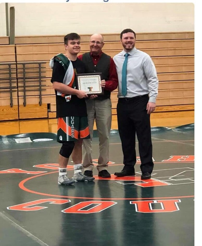 George Tusing was recognized for his achievement and team contribution in wrestling with the Bob Weaver Achievement Award on 12/12/18. Congratulations George!