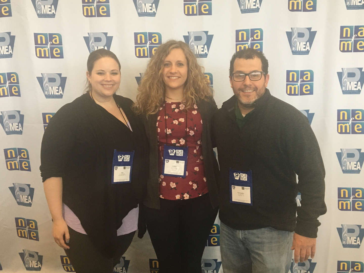 Yough music educators (Julia Aughenbaugh - YIMS Band Director, Jerianne Larson - YHS Band Director, Chris Ritz - YHS Chours Director) were in attendance at the PMEA All State/NAFME All East Conference.