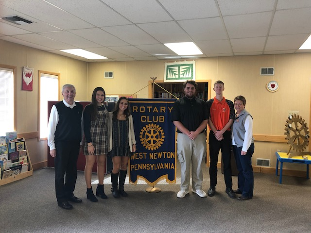 Congratulations to the December Rotary Students of the Month Gina, Amanda, Andy, Nathan