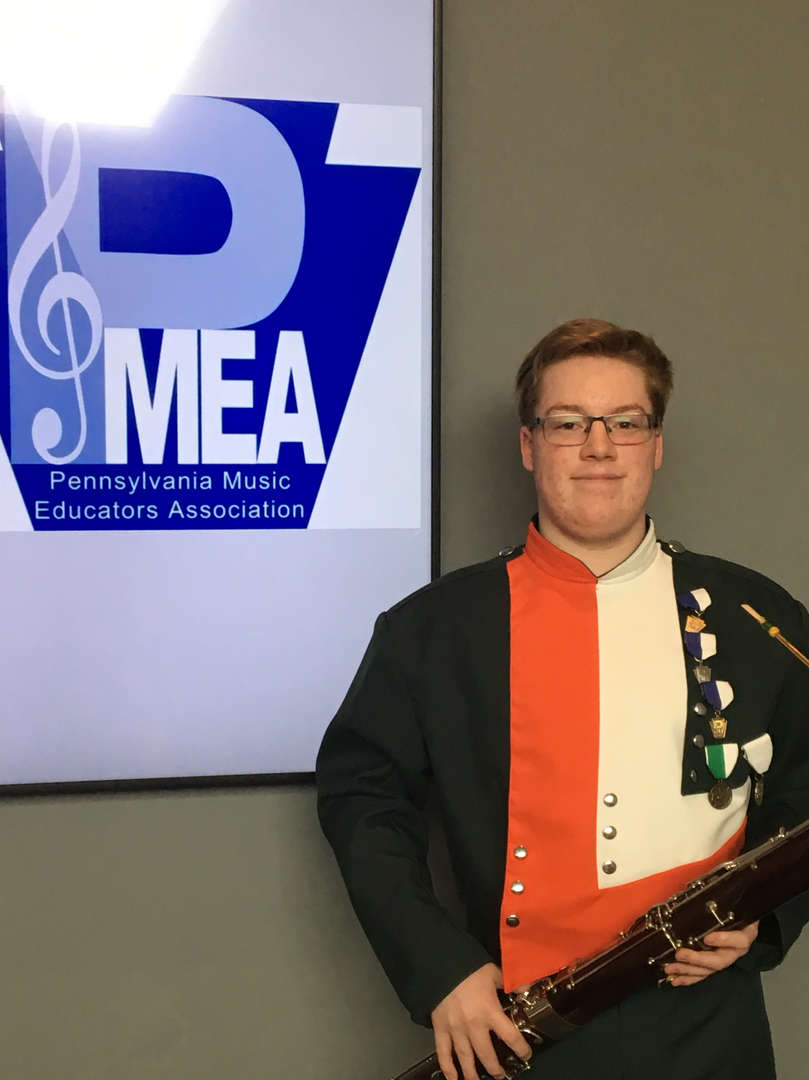 Walter (Grade 10) Placed 3rd overall in the PMEA All State Concert Band