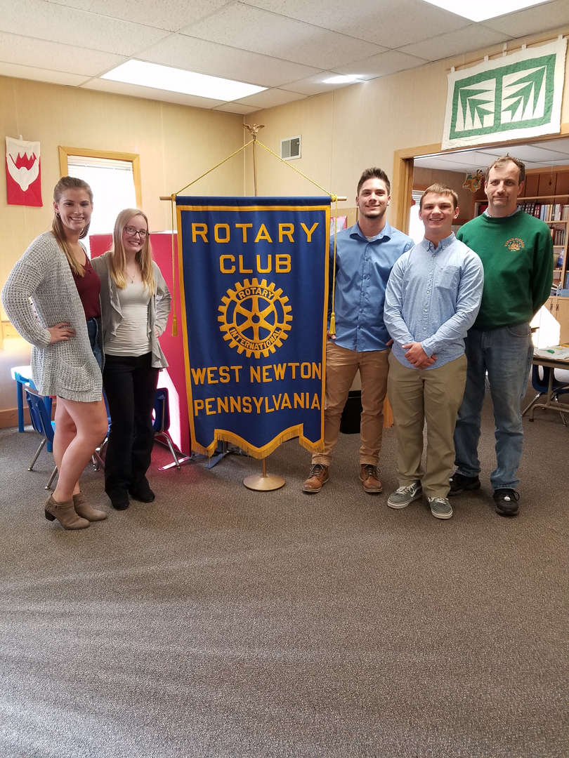 October Rotary Students of the Month Kara, Jaden, Dustin and Cameron