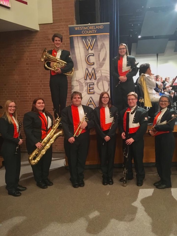 YHS Students who participated in the WCMEA County Band Festival.