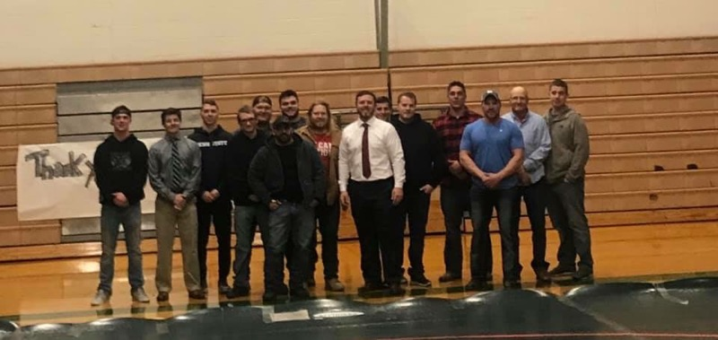 YHS Wrestling Alumni who came to the Alumni Night on 12/19/18.