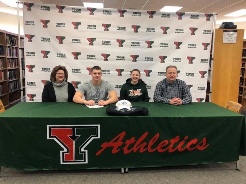 Congratulations to Russell Pytlak for signing to attend Mercyhurst University to continue his education and football career.  Congratulations Russell!!!!!
