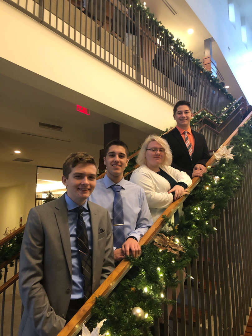 FBLA Students at the Regional Competition  Paul, Hunter, Jasmine, Caden  12/17/19