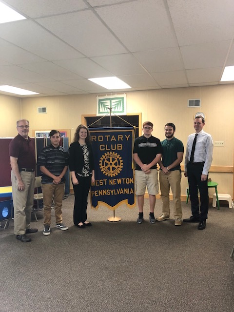 September Rotary Students of the Month Logan, Mollie, Brendan, Jacob