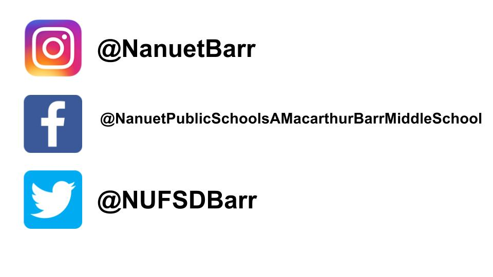 A. MacArthur Barr Middle School Social Media Accounts