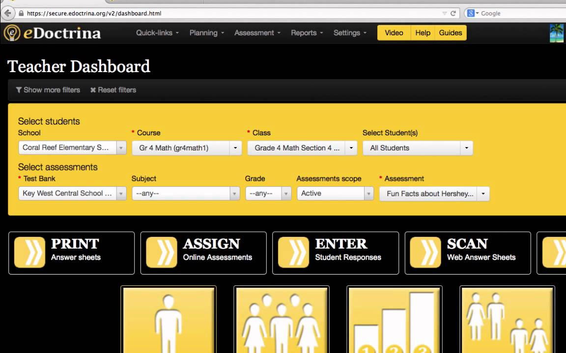 eDoctrina Teacher dashboard