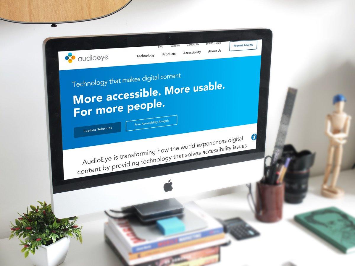 AudioEye on a desktop