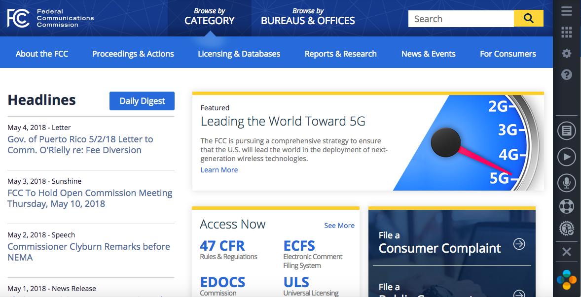 AudioEye FCC Website