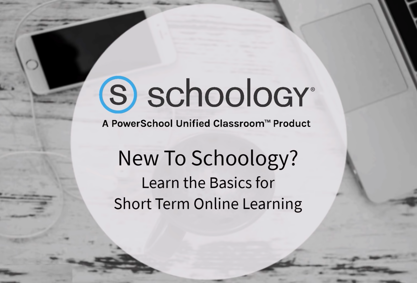 new to Schoology YouTube video title card