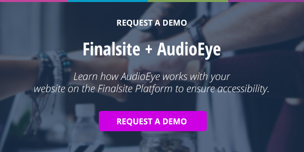 AudioEye through Finalsite