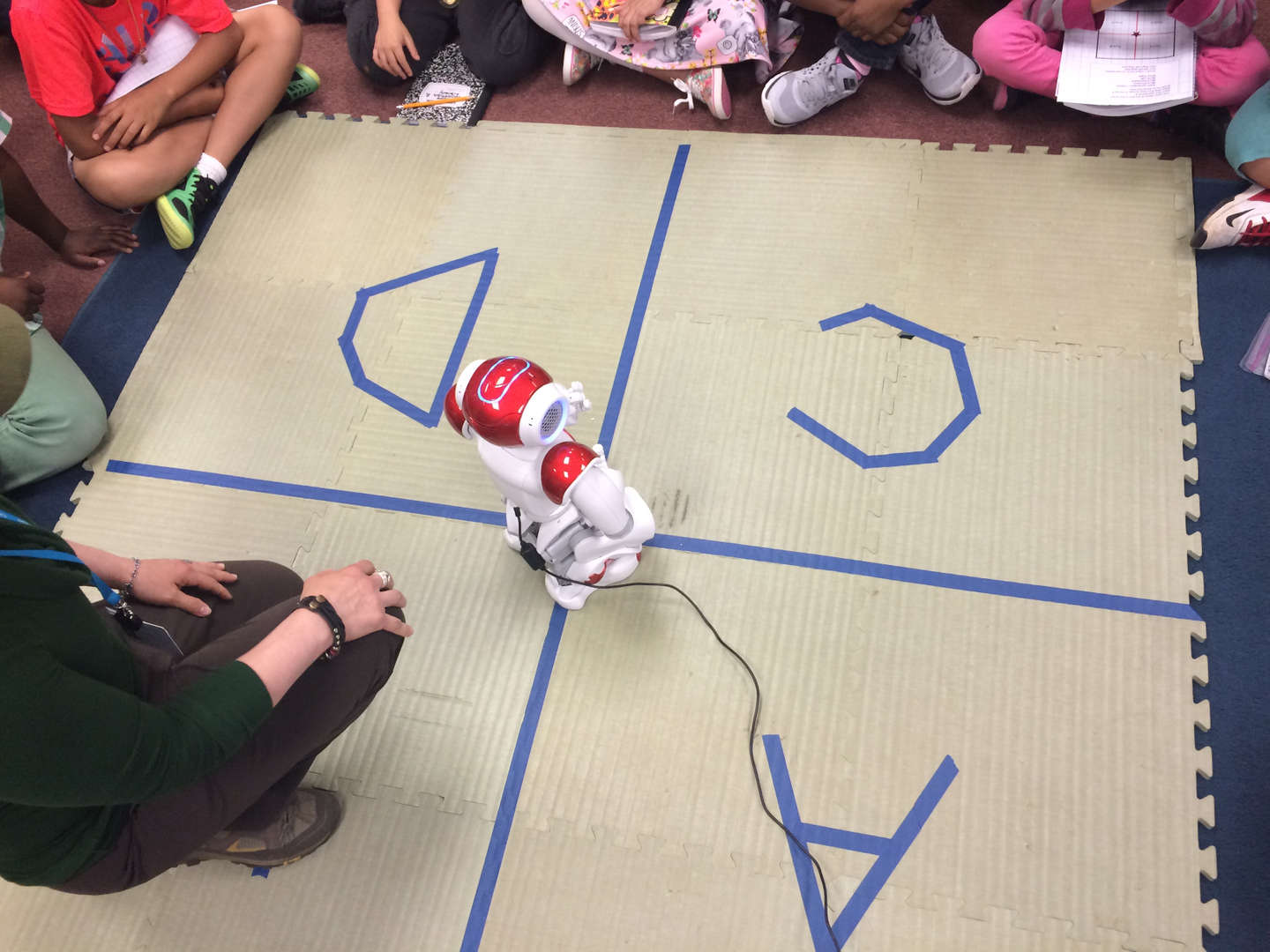 Robotics Curriculum with Nao Robot in action.