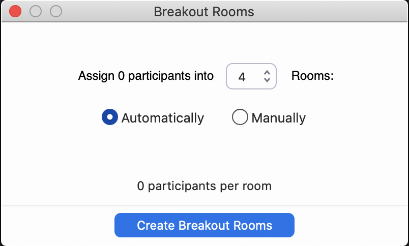 assigning breakout rooms