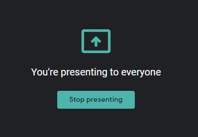 stop presenting