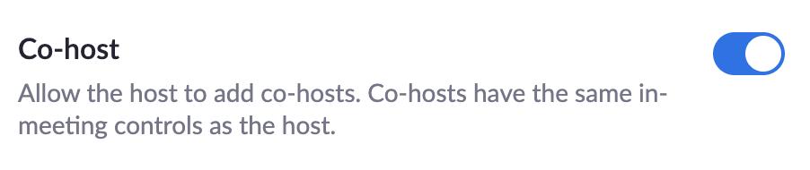 co-host toggle