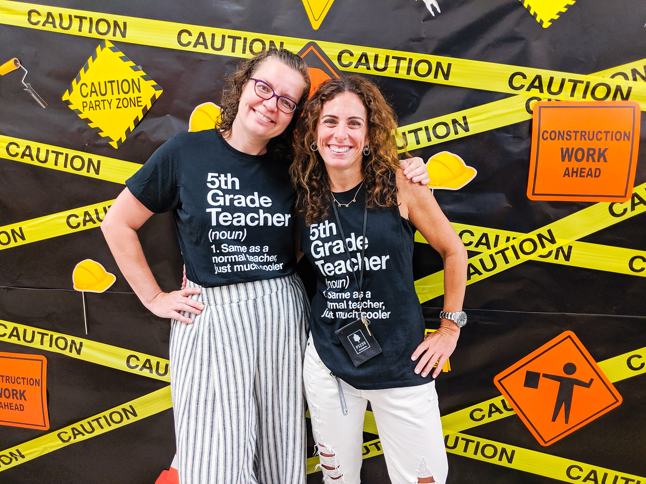 Smiling 5th grade teachers