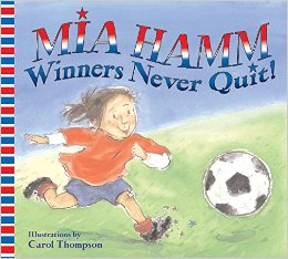 Book Cover with Smiling Girl Playing Soccer