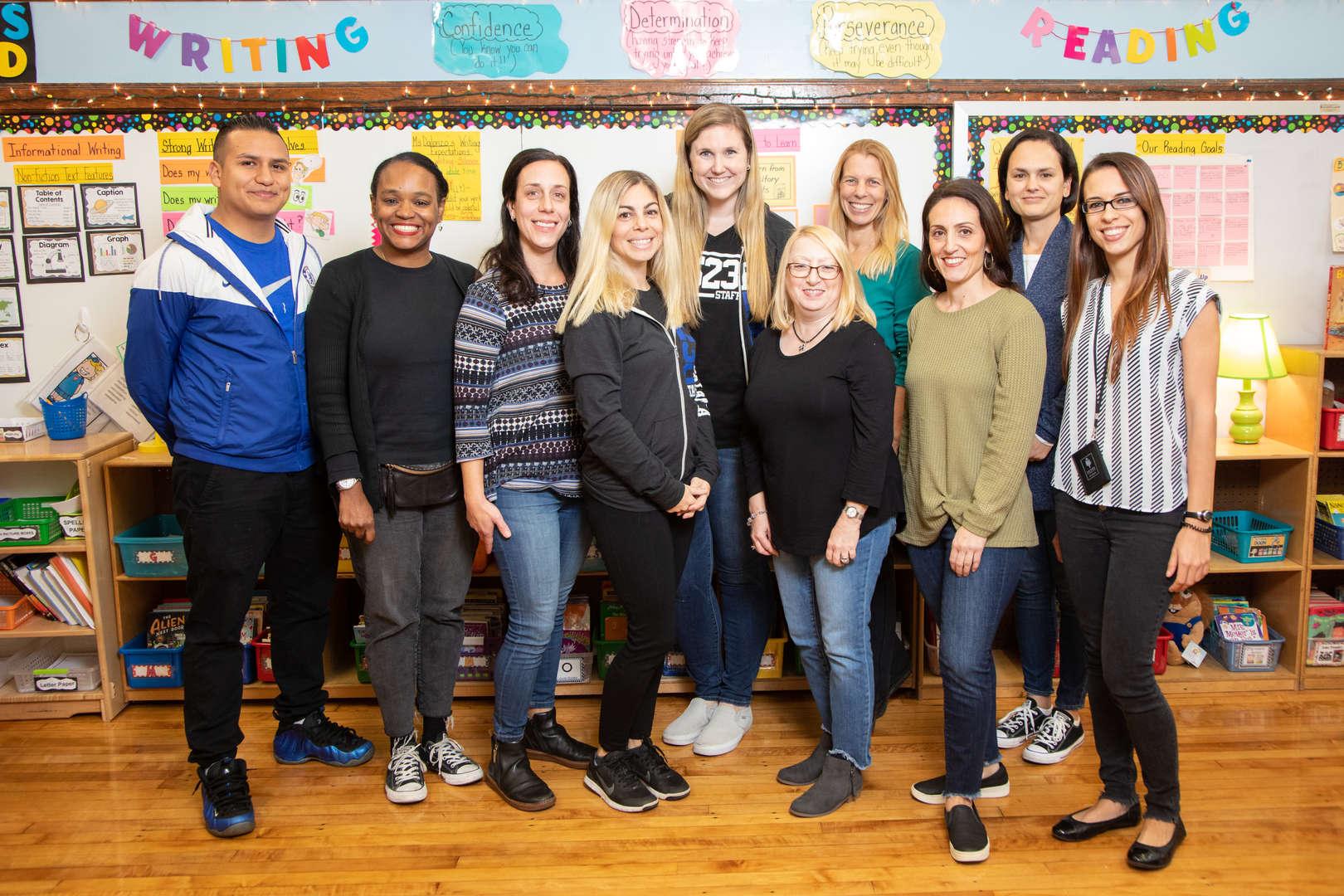 Smiling First Grade Teachers