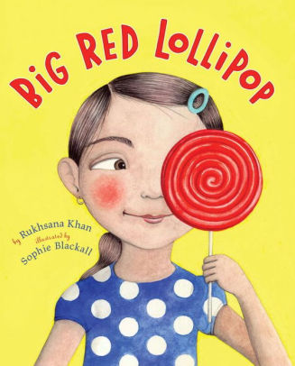 Book Cover with a smiling child holding a Red Lollipop